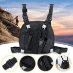 New Nylon Radio Walkie Talkie Chest Pocket Harness Bags Backpack Holster Vest Pack