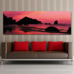 New DYC 10490 Single Spray Oil Paintings Photography Seaside Sunrise Landscape WallArt For Home Decoration Paintings