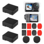 New SheIngKa Screen Protective Film Lens Cap Battery Case Sticker Mount Set for DJI OSMO Action Sports Camera