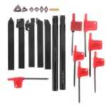 New 21PCS 12mm Lathe Solid Carbide Inserts Turning Tool Holder Boring Bar With Wrenches For Lathe Cutting Tools