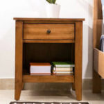 New Wooden Nightstand Closet Table Home Living Room Furniture
