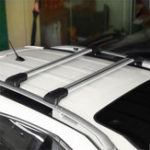 New 2Pcs 93-99mm Car Roof Rack Cross Bar Luggage Carrier For All Cars Raised Rail