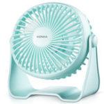 New KONKA-KF-07U100 3W Power USB Charging Cooling Fan Mini Low Noise 360° Air Supply Fan