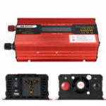 New XUYUAN 1000W Solar Power Inverter DC 12/24V to AC 110/220V Modified Sine Wave Converter with LCD Screen for Car Home