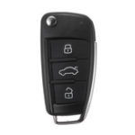 New 3 Buttons Car Remote Key Fob Case Shell With Battery for Audi A3 A4 A6 A8 Q7 TT