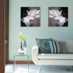 New Miico Hand Painted Combination Decorative Paintings Petals Painting Wall Art For Home Decoration
