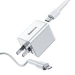 New Baseus 18W PD Qucik USB Charger + PD 18W C-Ldata Cable for MacBook Pro/Air iPhone/iPad Pro