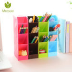 New Multi-function 4 Grid Desktop Pen Holder Office School Storage Case made by eco-friendly wheat straw Desk Pen Pencil Organizer