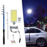 New 800W COB Waterproof Outdoor Lantern Rod Fishing Camping Light Remote Control DC12V Portable Emergency Lamp for Road Trip