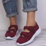 New Women Casual  Mesh Breathable Hook Loop Sneakers