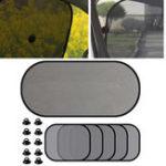New 5Pcs Car Window Sun Visor Screen Car Side Rear Window Screen Sunshade Shield Curtain