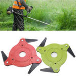New Green or Red 3 Steel Blades Razors Lawn Mower Grass Eater Trimmer Head Brush Cutter Tool