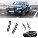 New Carbon Fiber Car Interior A Pillar Air Conditioning Vent Trim Cover Sticker Accessories Styling For Hyundai Santa Fe 2019 2020