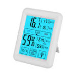 New Electronic Digital Thermometer and Hygrometer Large Screen Indoor Touch Screen Temperature and Humidity Meter