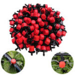 New 100pcs Adjustable Irrigation Drippers Sprinklers 1/4 Inch Emitter Dripper Micro Drip Irrigation Sprinklers for Garden Watering System
