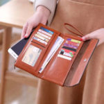 New New Fashion Buckle Women's Long Wallet Women's Clutch Phone Wallet Bag