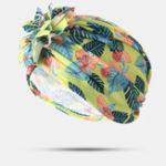 New Women Cotton Tray Flower Headband Cap Ethnic Hat