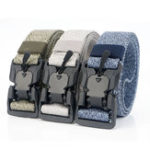 New 125cm AWMN Punch Free Magnetic Elastic Buckle Tactical Belt