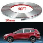 New  12M Chrome Car Body Door Edge Lip Protector Decor Moulding Guard Trim Strip