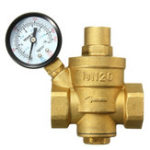 New TMOK 1/2″ 3/4″ 1″ Brass Adjustable Water Heater Pressure Reducing Valve with Gauge Meter Safety Relief Valve Pressure Regulator Controller
