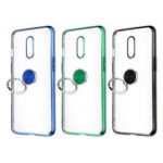 New Bakeey Shockproof Plating With Ring Holder Hard PC Back Cover Protective Case for OnePlus 7 / Oneplus 6T