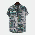New Mens Multi Floral Printing Short Sleeve Casual Shirts