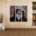 New Miico Hand Painted Three Combination Decorative Paintings People Portrait Oil Painting Wall Art For Home Decoration
