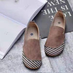 New Women Casual Suede Stitching Slip On Flats