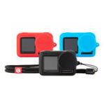 New PGYTECH OSMO Action Camera Silicone Rubber Case Protective Housing Shell Black/Red/Blue for DJI Cam