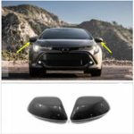 New Carbon Fiber Style Side Car Rearview Mirror Cover For Toyota Corolla Hatchback 2019