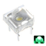 New 100PCS 5MM 4Pin Green LED Transparent Round Top Lens Water Clear Bulb Emitting Diode Lamp DC3V