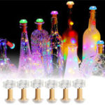 New 1PCS 6PCS Solar Powered Bottle Copper Cork Wire LED Fairy String Light Party Christmas Lamp