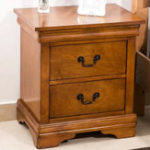 New 2 Drawer Nightstand Traditional Style Wooden Closet Table Home Furniture