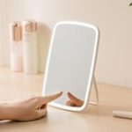 New Portable Makeup Mirror Desktop LED Light USB Rechargeable Folding Touch Dimmable Lamp for Dormitory Home from Xiaomi Youpin