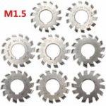 New 8pcs Module 1.5 PA20 Bore 22mm #1-8 HSS Involute Gear Milling Cutter