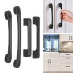New Matte Black Cabinet Pull Door Handles Steel Kitchen Hardware Drawer Knob T Bar