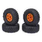 New 4PCS RC Car Tires & Wheels Rims for HB Toys ZP1001 1/10 RC Vehicles Spare Parts