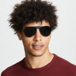 New Men Wild HD Anti-UV Metal Matt Sunglasses