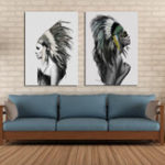 New Miico Hand Painted Combination Decorative Paintings Lovers portrait Wall Art For Home Decoration