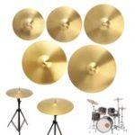 New 12/14/16/18/20 Inch Brass Alloy Drum Cymbal for Percussion Instruments Players Beginners