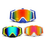 New Detachable Motorcycle Anti Radiation Windproof Ski Goggles