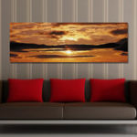 New DYC 10391 Single Spray Oil Paintings Photography Landscape Sunrise Wall Art For Home Decoration