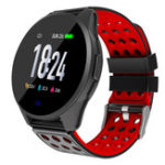New Bakeey CK20S Tempered Glass Carbon Fiber Case Breathing Light 24hour Heart Rate Long Battery Life Smart Watch