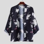 New Mens Fashion Animal Printed  Loose Cardigans