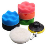 New 7pcs 3″5″6″7″sponge Polishing waxing Buffing Pad Kit Compound-Polishing-Auto Car Drill Adapter