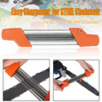 New 2 in 1 Easy Chainsaw Chain Sharpener Metal File Fast Chain Saw Sharpener 5.5mm