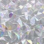 New 45*200cm Glue-free Electrostatic 3D Glass Film Irregular Grain Refraction Colorful Glass Window Film