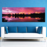 New DYC 10498 Single Spray Oil Paintings Photography Golden C-oast For Home Decoration Paintings Wall Art