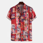 New Mens Character Printing Short Sleeve Summer Shirts