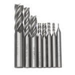 New 8Pcs/Set Milling Cutter Drill Bit Tools Solid Carbide End Milling Cutter 4 Flute HSS 1/16-1/2 Inch